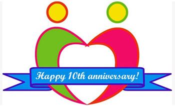 うるま市の10周年ロゴ