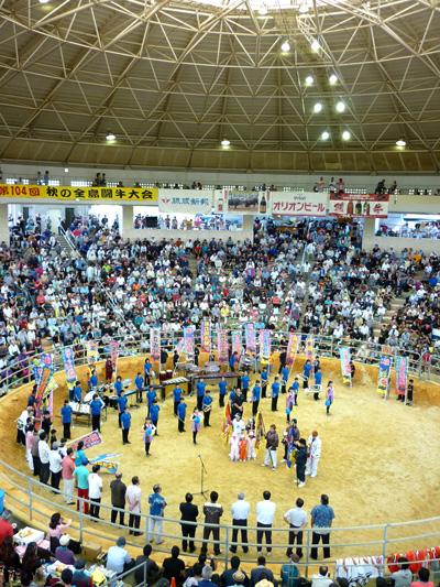 闘牛大会開会式